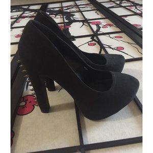 Charlotte Russe Black Spiked Heels